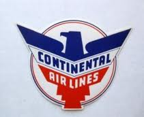 Continental Airlines Logo Circa 1940s
