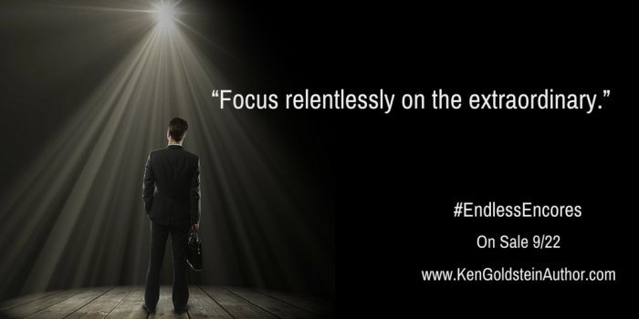 """Focus relentlessly on the extraordinary."" Pub Day"